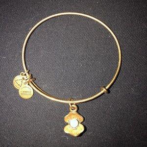 Gold Pearl Shell Alex & Ani Bracelet